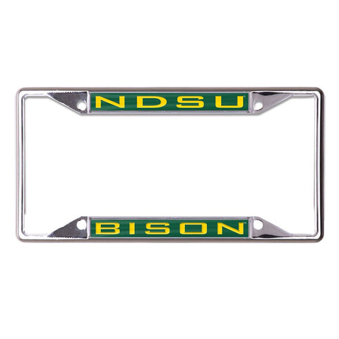 NDSU Bison Metallic License Plate Fram