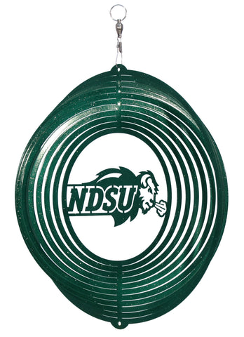 NDSU Bison Swirly Metal Wind Spinner - One Herd