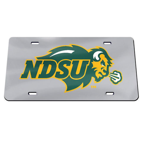 NDSU Bison Gray License Plate
