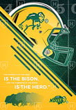 Strength of the Herd - NDSU Football Canvas Print - One Herd