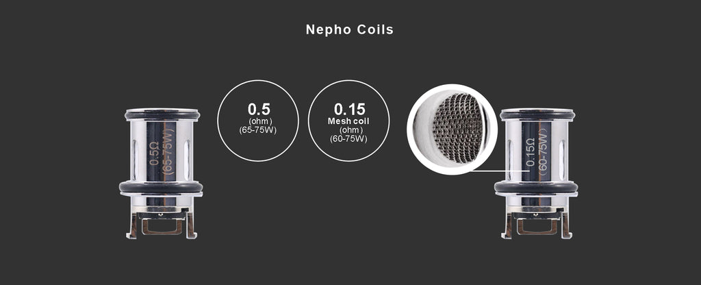 Nepho Kanthal and Mesh coil specifications