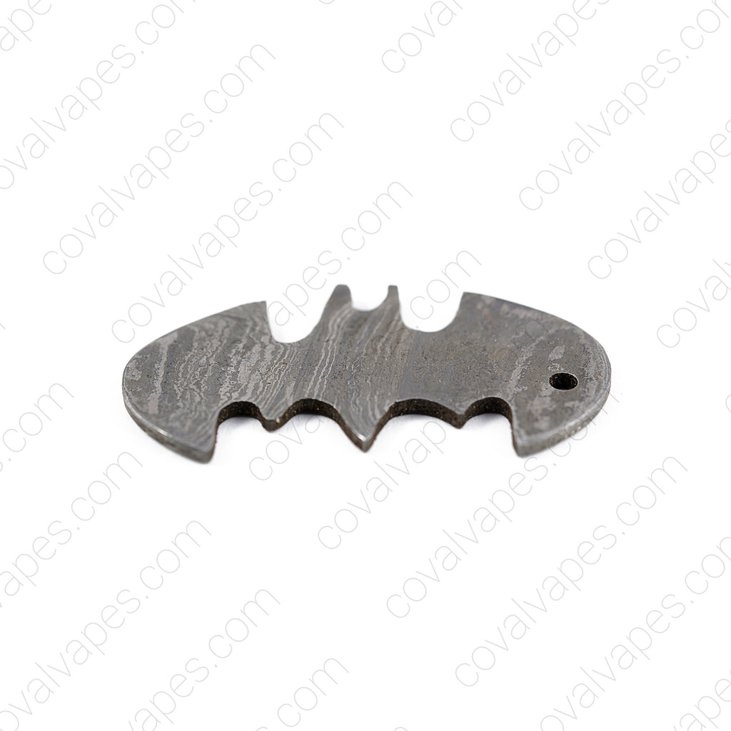 Damascus Battery Cap Opener Keychain