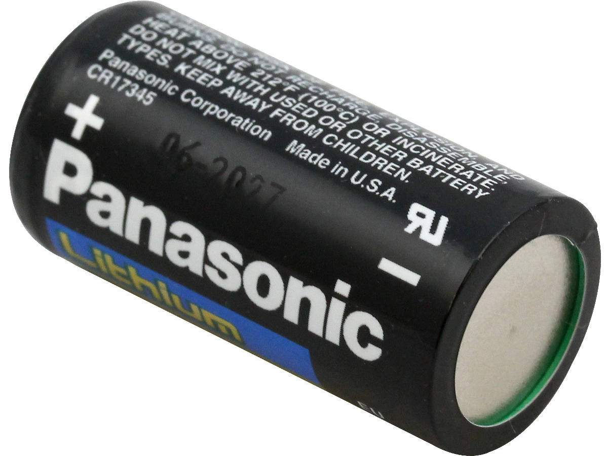 Panasonic CR123A 3V 1550mAh Non-Rechargeable Battery