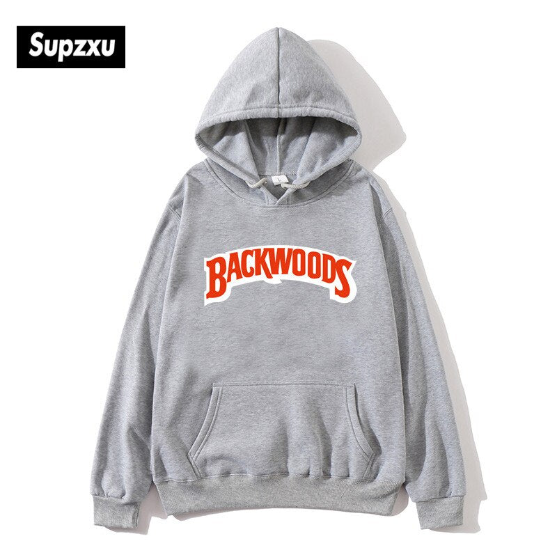 Backwoods Print Hoodies Pullover Hip Hop Men Tracksuit Hoodie Sweatshirts