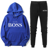Woman Fashion Yes Boss Tracksuit 2 Piece Set Autumn Winter Pullover Hoodie+Pants Sports Suit Female Sweatshirt Sportswear Suit