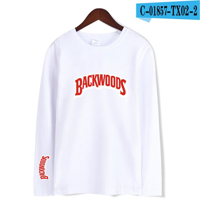 Backwoods T Shirts Comfortable Man Women Inner wear T Shirt Cotton Printed BACKWOODS Smoke Long sleeve Tshirt Oversized