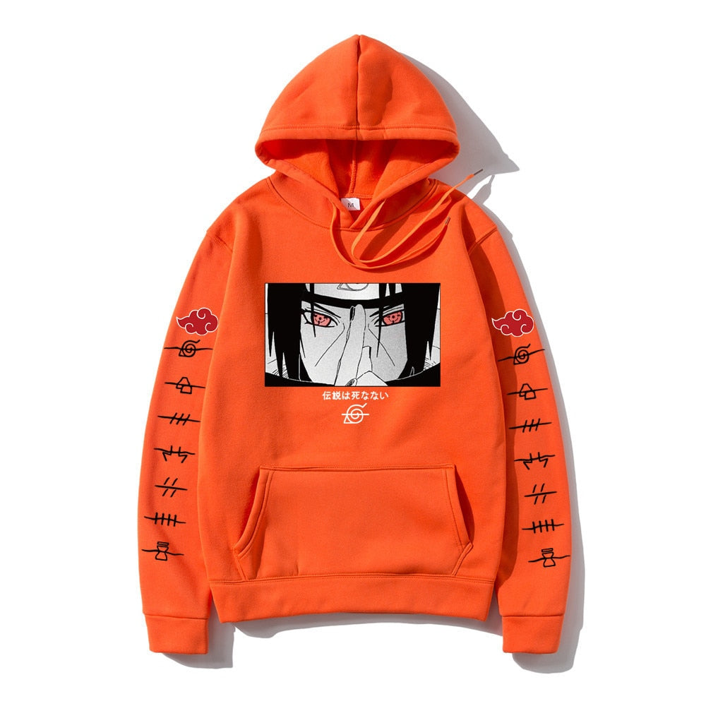 Men Casual Autumn Winter Hip Hop Hoodie pullover Japanese Anime Streetwear itachi pullover Sweatshirt