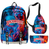 Backwoods 3D Printed Backpacks 3 Piece Set Boys Girls Teenager Laptop Oxford Waterproof Bags