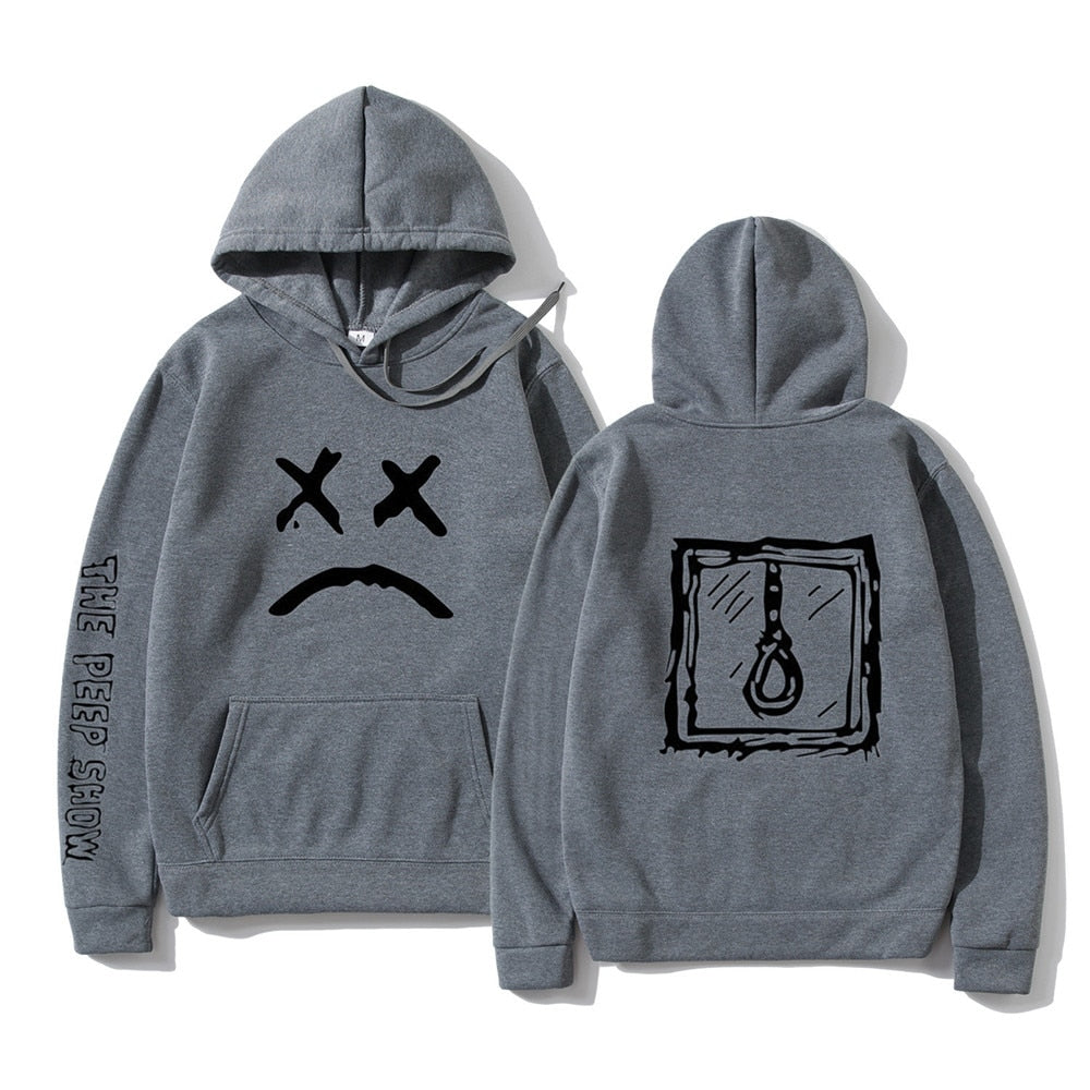 Lil Peep Hoodies Love lil.peep Sweatshirt Happy Smiling Face Print men Women Pullover Hoodies