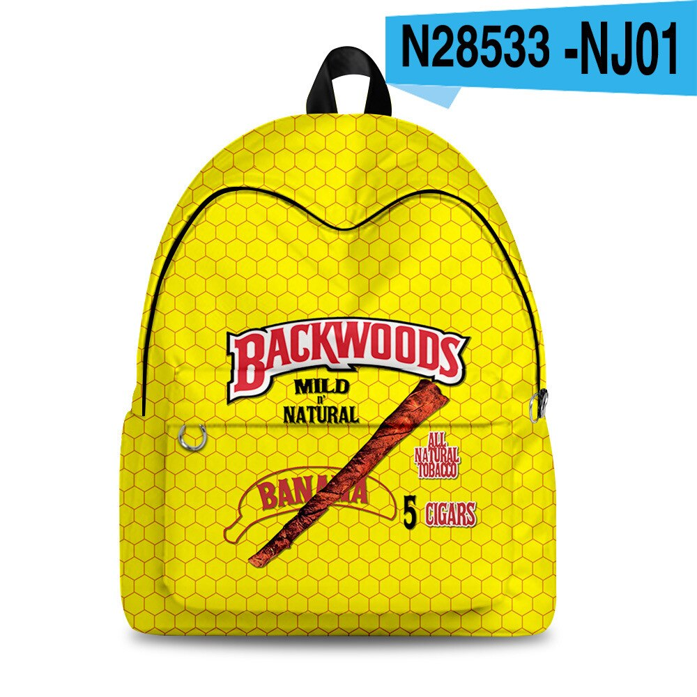 Backwoods Teenager Students School Bags Unisex Outside Travel Waterproof Oxford Casual Backpack
