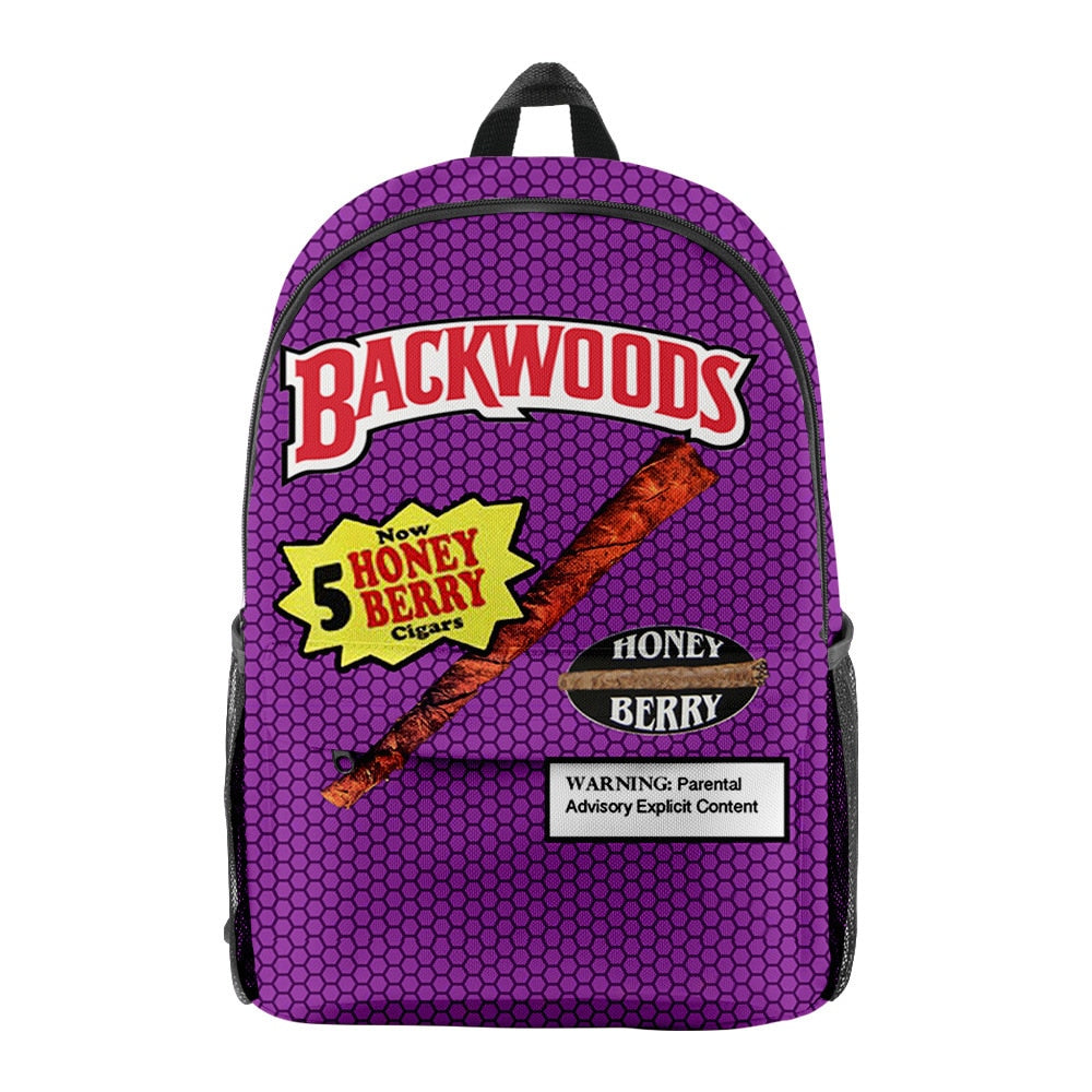 Backwoods Backpack School Bags 3D Printed Oxford Waterproof Sports Backpacks