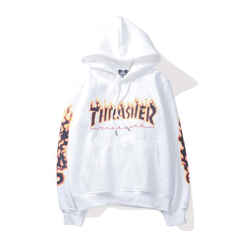 Thrasher Hoodies Casual Loose Hip Hop Sweatshirts Japan High Street Harajuku Hoodie Fashion
