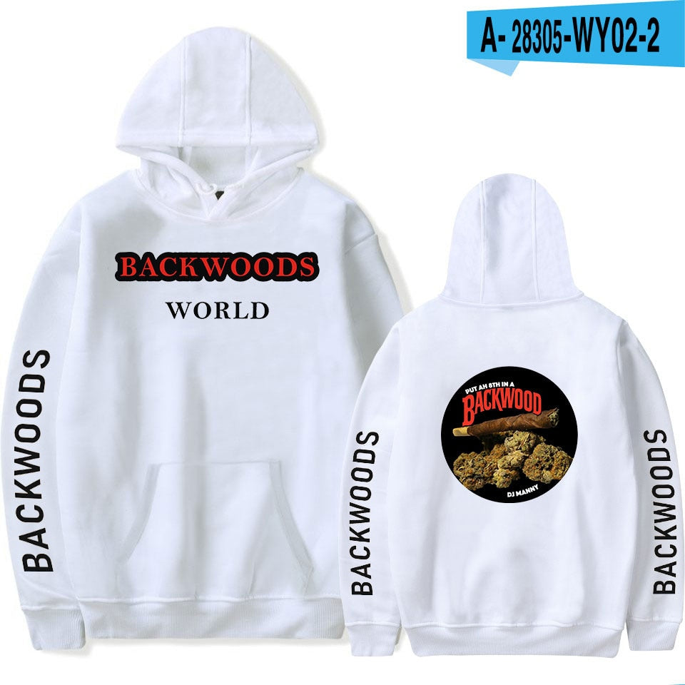 BACKWOODS Sweatshirt Fashion Streetwear Hip Hop Pullover Hooded Jacket Casual Sportswear