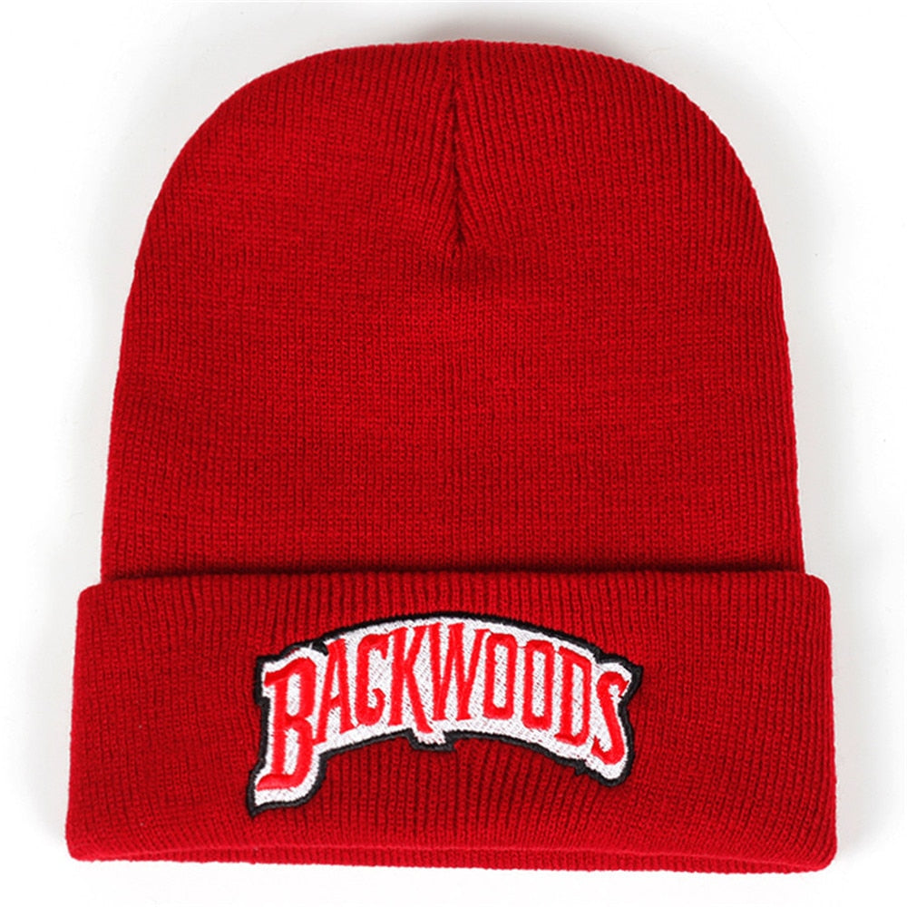 Backwoods Knitted Hat Beanies Lettering Cap Winter Hats Warm Hat Fashion Solid Hip-hop Beanie Hat Unisex Caps