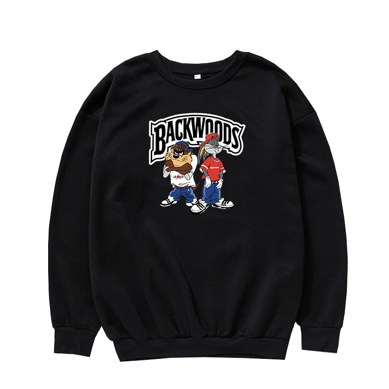 Backwoods English Letter Print Funny Korean version Sweatshirt Women and Men Sport Hoodies