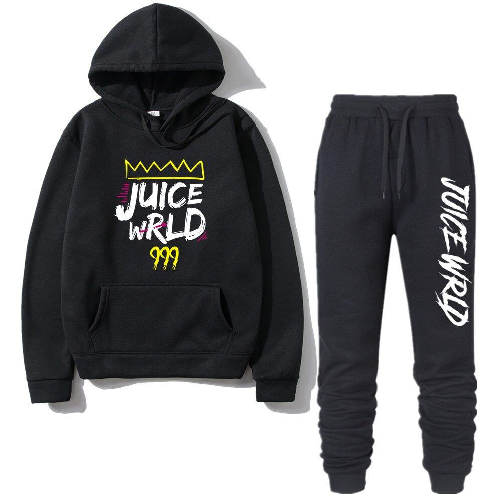 Juice Wrld Hooded Sweatshirt pants Pullover Hoodie Sportwear Sweat Suit Casual Sportsuits 2 Pieces Sets