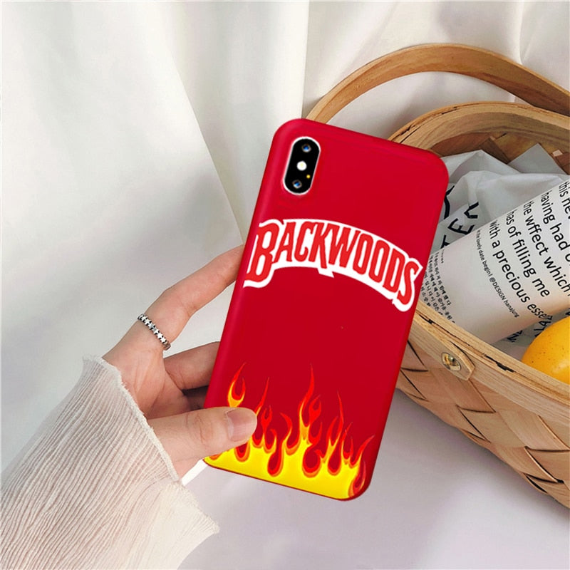 Backwoods Phone Case For iPhone XS MAX 11 Pro 12 7 SE20 XR X 8 6Plus Cool Fire Soft Cover Bag