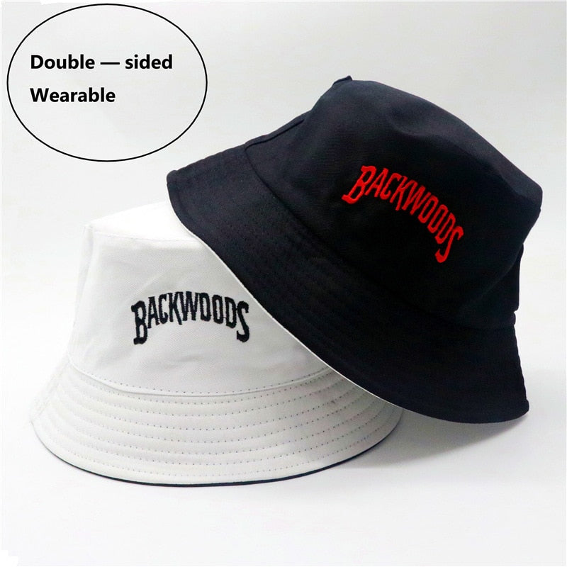 Backwoods Panama Bucket Hat Men Women Outdoors Street Beach Fisherman Caps Harajuku Style YC2