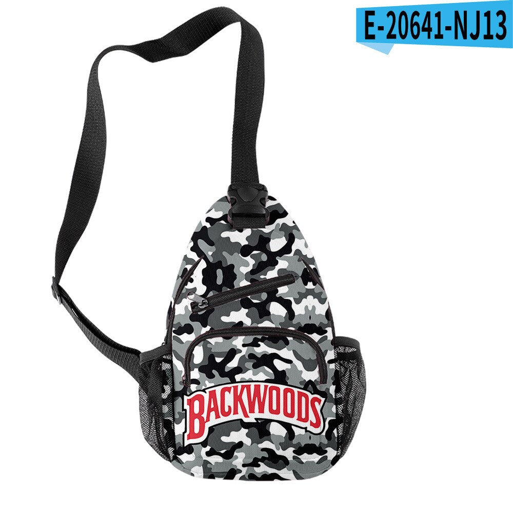 Backwoods Fashion Trend Single-Shoulder Bag Personalized Design Multi-Kinetic Energy Satchel Customization