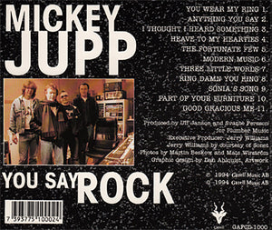 "MICKEY JUPP ""You Say Rock"""
