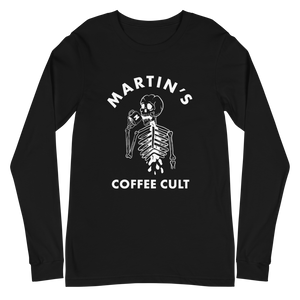 Martin's Coffee Cult Black Long Sleeve Tee