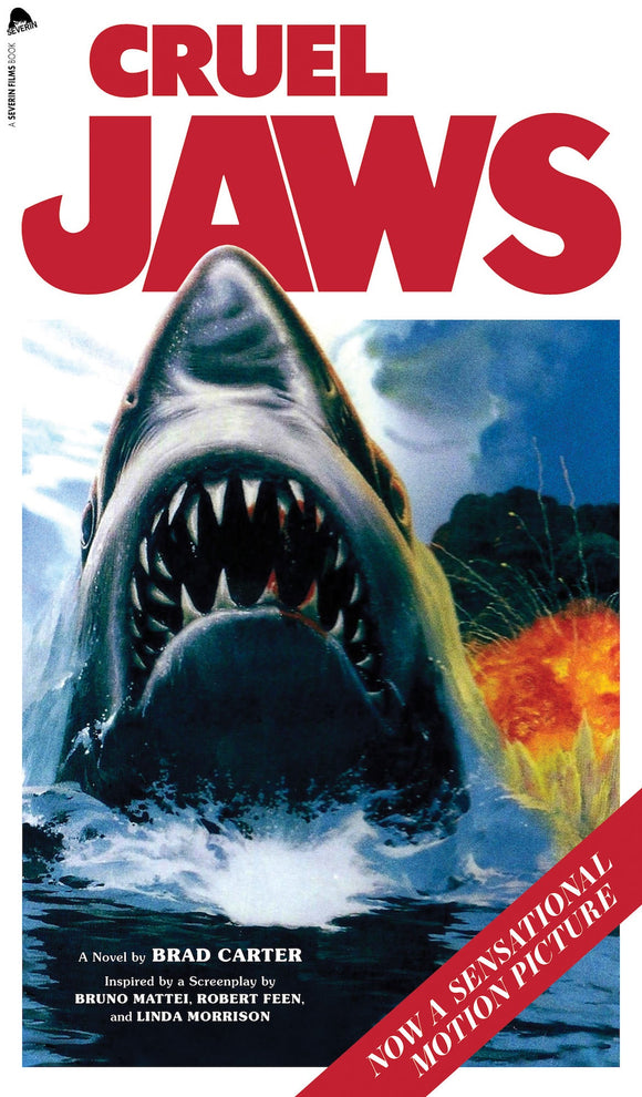 CRUEL JAWS  novelization by Brad Carter