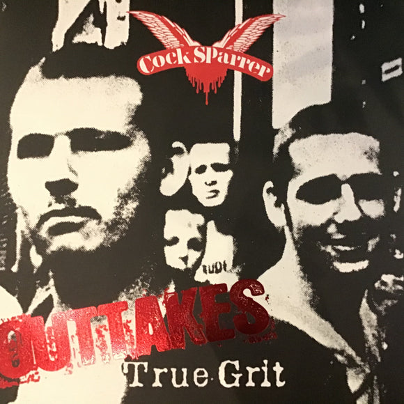 COCK SPARRER - True Grit Outtakes LP (black with white striped vinyl)