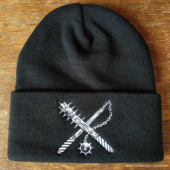 Out Of Season - Weapons embroidered knit cap (black)