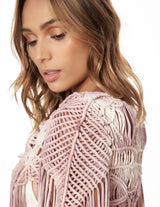 Steam Cardigan Rose Storm