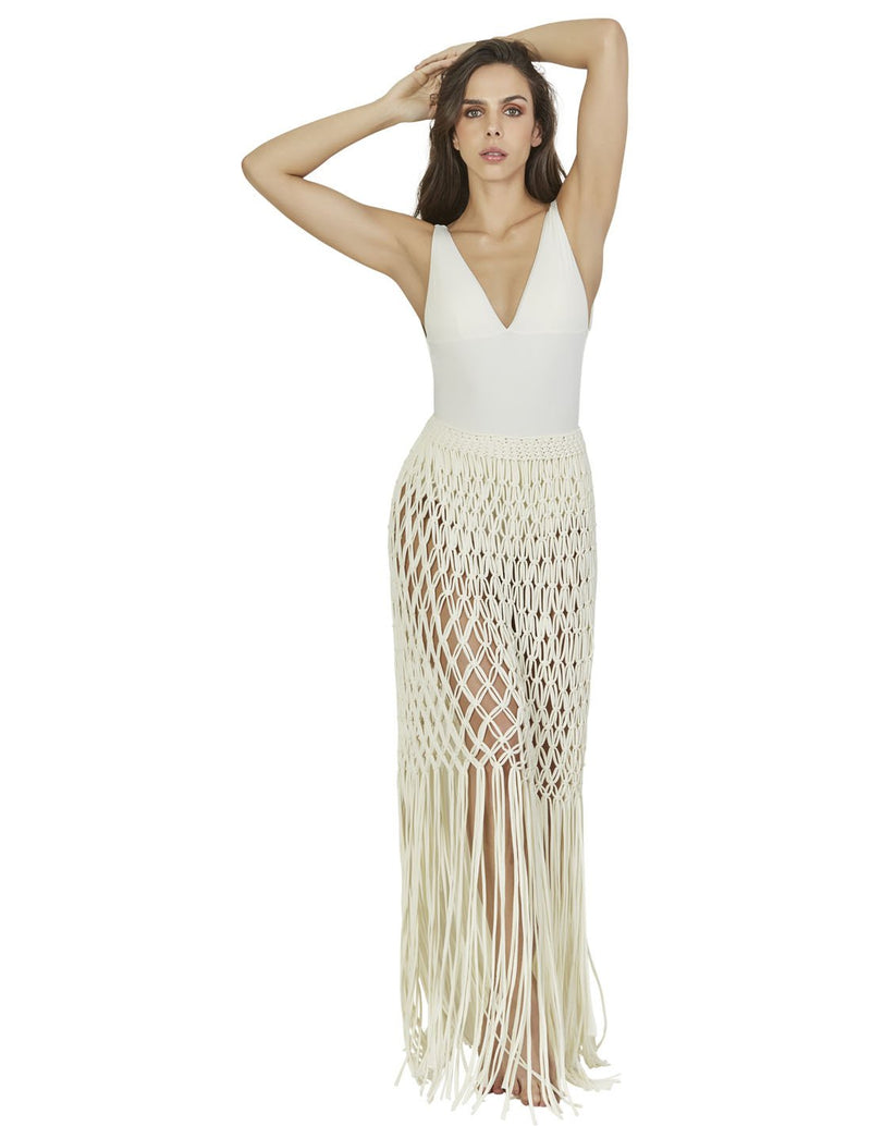 beach skirt with macrame in special color root lcs015299 1