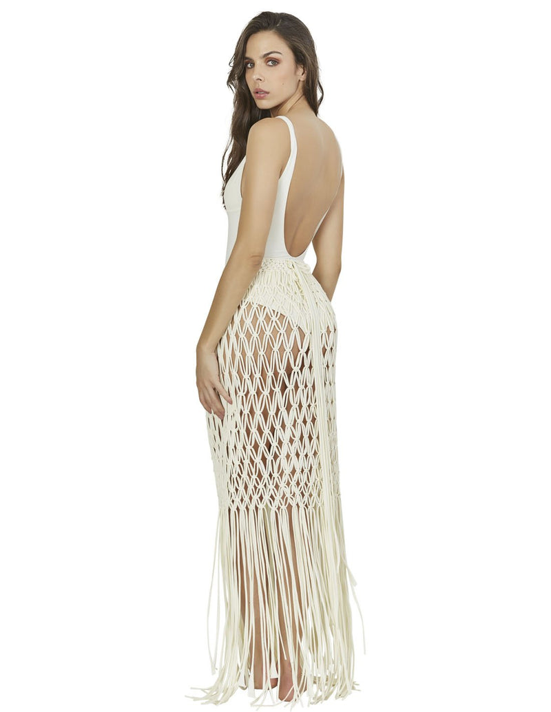 beach skirt with macrame in special color root lcs015299 2
