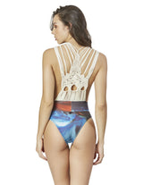 plunge one piece swimsuit with macrame in bali pink beach pura luhur batukaru cso016333 2