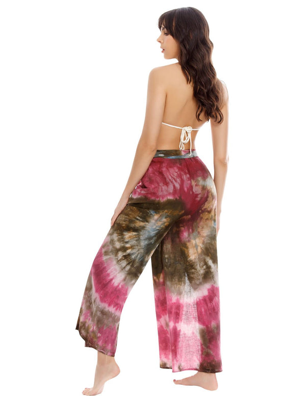 Air Spotted Wild Wine & Olive Pant. Beach Pant In Spotted Wild Wine+Olive. Entreaguas