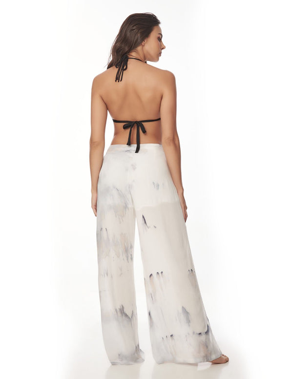 Earth Pant Gray Storm. Hand-Dyed Beach Pant In Gray Storm. Entreaguas