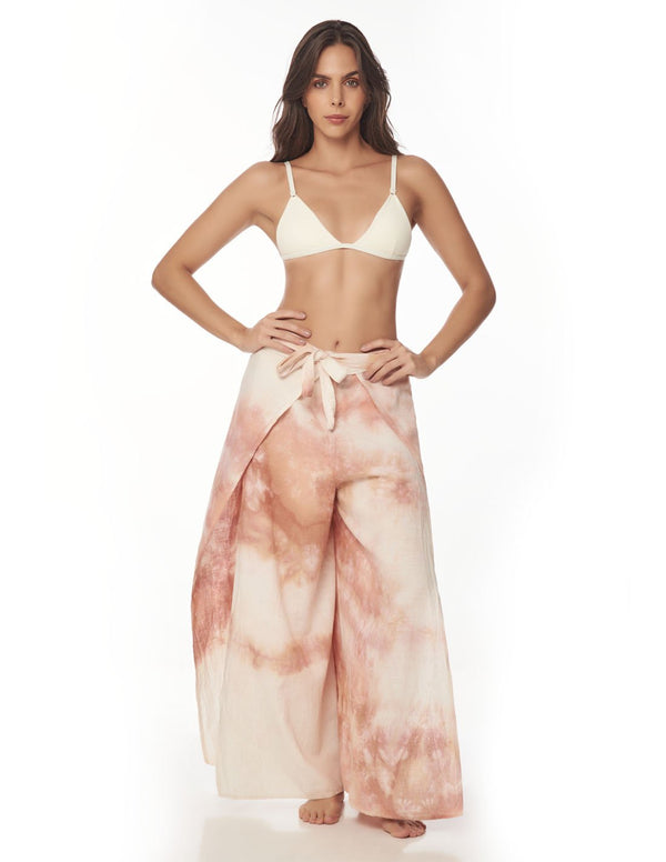 Air Pant Blush Storm. Hand-Dyed Beach Pant In Blush Storm. Entreaguas