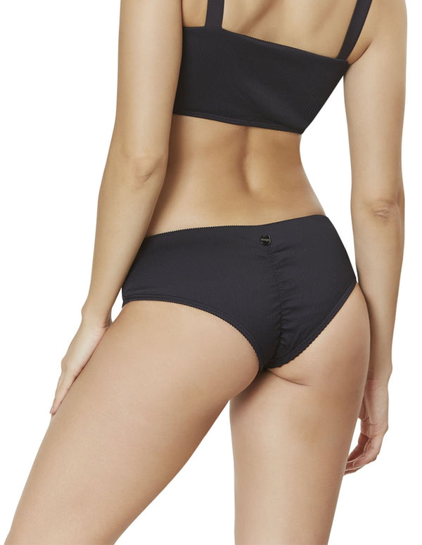 Portobelo Bottom. Cheeky Bikini Bottom In Black. Entreaguas