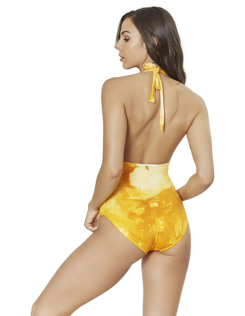 one piece swimsuit in spotted mustard cosmos 2 eso011417 2