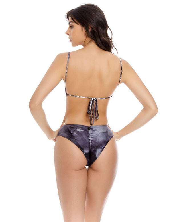 Cattleya One Piece Graystone. Hand-Dyed One Piece Swimsuit In Graystone. Entreaguas