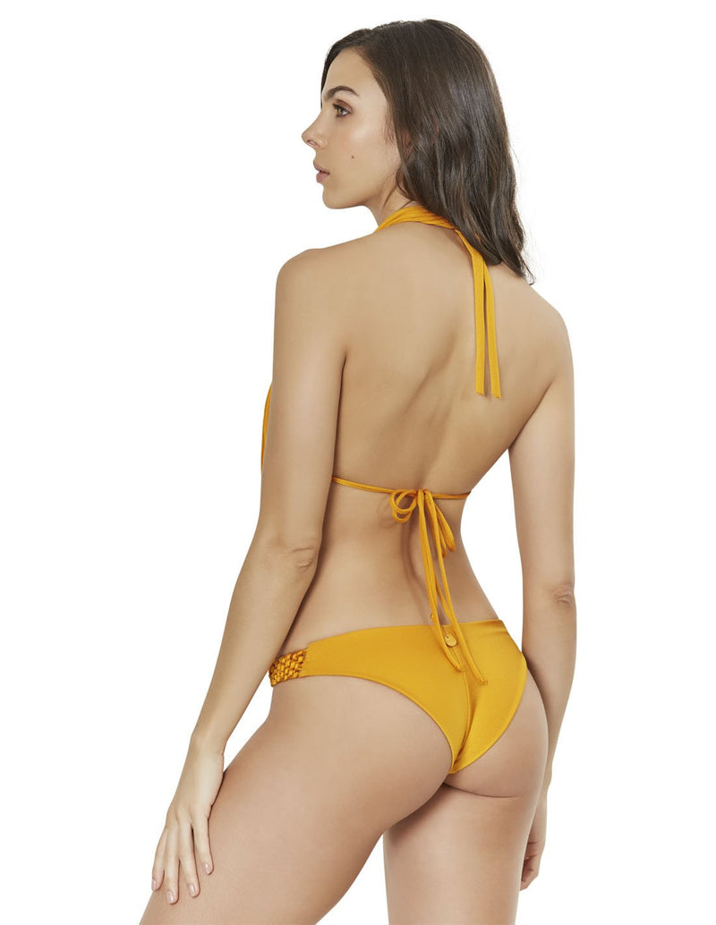 two piece bikini set with macrame in mustard lions mane est011916 esb011916 2