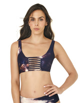 Top Spotted Blue Ivory. Bikini Top In Spotted Blue+Ivory. Entreaguas