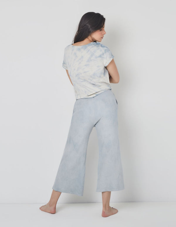 Cocora Wide-Leg Pants Cabbage. Hand-Dyed Wide-Leg Pants In Cabbage. Entreaguas
