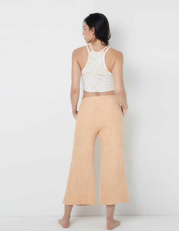 Cocora Wide-Leg Pants Clay Brick. Hand-Dyed Wide-Leg Pants In Clay Brick. Entreaguas