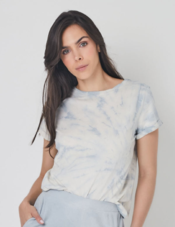 Quimbaya Tee Cabbage. Hand-Dyed Tee In Cabbage. Entreaguas