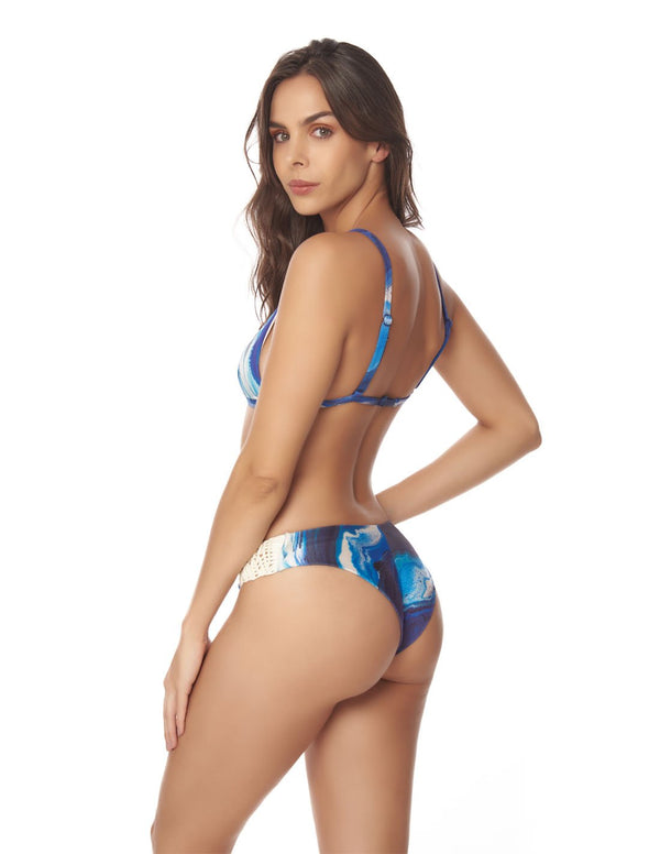 Water & Star Two Piece Blue Sky. Two Piece Bikini Set In Blue Sky. Entreaguas