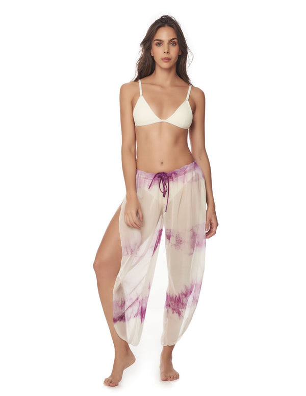 Dew Pant Morning Purple. Hand-Dyed Beach Pant In Morning Purple. Entreaguas
