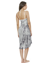 Wind 1 Beach Wrap. Hand-Dyed Beach Wrap Cover-Up In Gray Special. Entreaguas