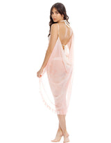 Wind 1 Spotted Soft Pink Beach Wrap. Hand-Dyed Beach Wrap Cover-Up In Spotted Soft Pink. Entreaguas