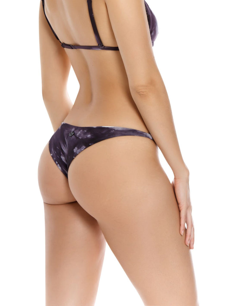 Soil 1 Bottom Graystone. Hand-Dyed Thong Bikini Bottom In Graystone. Entreaguas