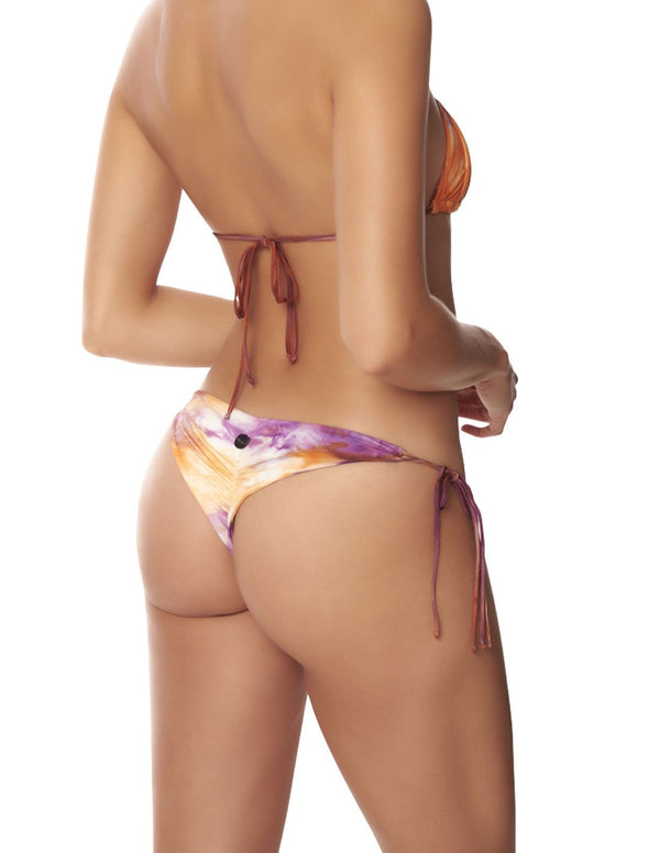 Star Bottom Morning Sky. Hand-Dyed Tie Side Bikini Bottom In Morning Sky. Entreaguas