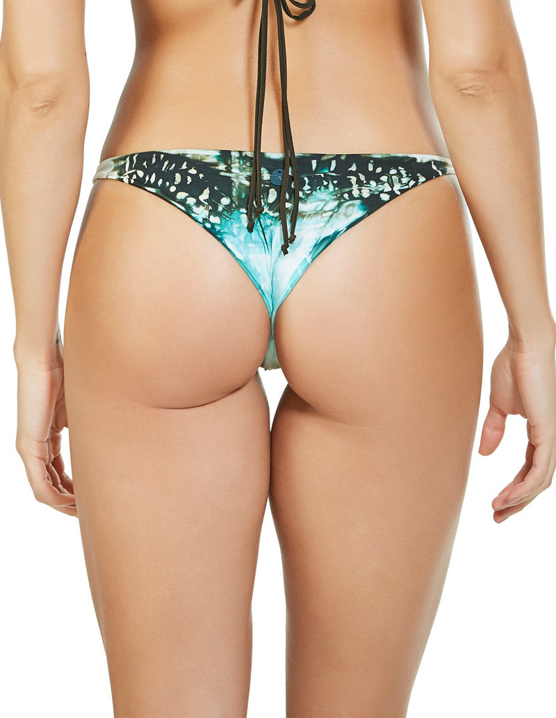 Soil 1 Bottom. Hand-Dyed Low Rise Bikini Bottom In Selene. Entreaguas